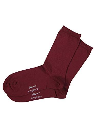 engbers Herren Socken, 26068, Rot in Größe 46
