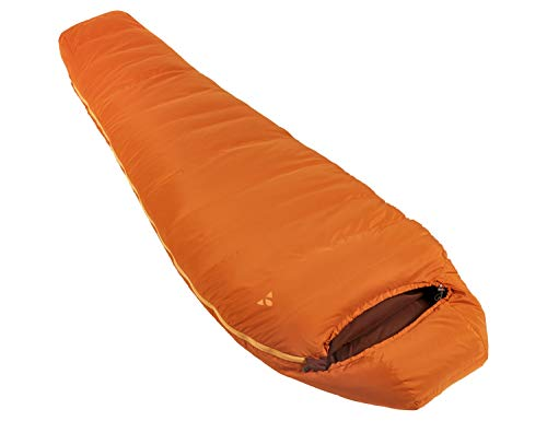VAUDE Marwees 500 XL DWN, warme en veelzijdige donzen slaapzak, mummiesnijding slaapzak, oranje madder, one size