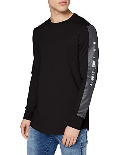 G-STAR RAW GS Raw Sleeve Logo+ Camiseta, Dk Black C336-6484, L para Hombre