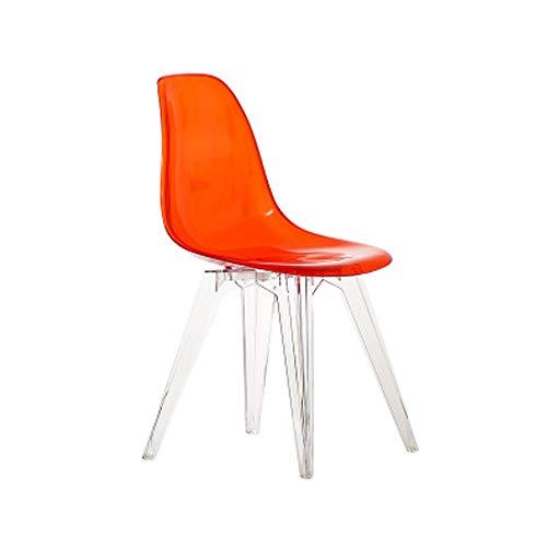 Moderne Mid-Century bureaustoel, eetkamerstoel, transparante stoel, doorzichtig, slaapkamer, woonkamer, keuken Transparentred