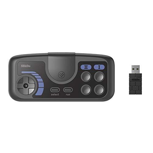 N/A. Adecuado para PC Engine Mini, PC Engine Coregrafx Mini, Interruptor, 2.4g Game Controller 2.4g Controlador De Juego Inalámbrico para PC Compatible con PC, 18 Horas De Tiempo De Juego