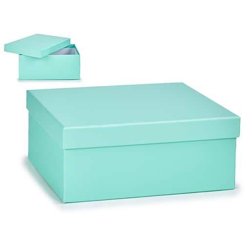 CABLEPELADO Caja almacenamiento para regalo de carton grande Azul claro