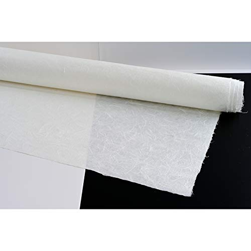 Handgeschöpftes Papier Koreanisch Traditionelle Hanji-Drachen Wolke Unryu Faser Textur UnYongJi 97 cm x 1,92 m 2-lagig (doppellagig) 75 g/m² [3 Blatt]