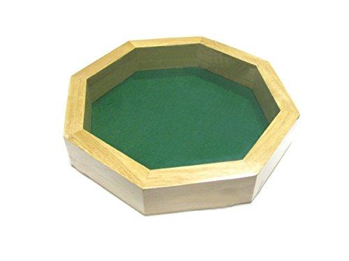 10インチ 8角形 木製ダイストレイ