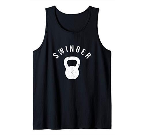 Swinger Kettlebell - Lustiges Bodybuilding Training Fitness Tank Top