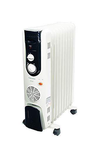 Morphy Richards OFR 9F - 9 Fin, 2400-Watt Oil Filled Radiator with PTC Fan Heater (Grey)