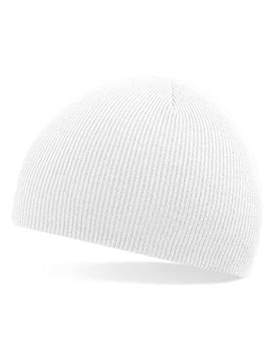 Chico Basic Beanie Winter Ganzjahres Strick Mütze (Weiß)