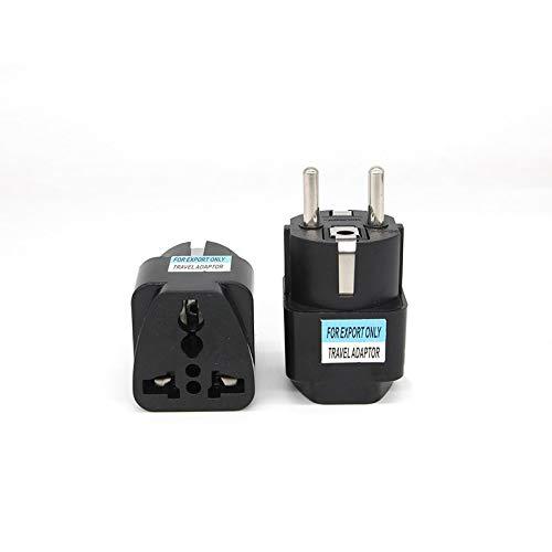 Reino Unido EE.UU. UA for adaptador de enchufe alemán conversión estándar de la UE Europea de Turismo múltiples funciones del adaptador de enchufe del zócalo Francia Rusia Negro (Standard : EU Plug)