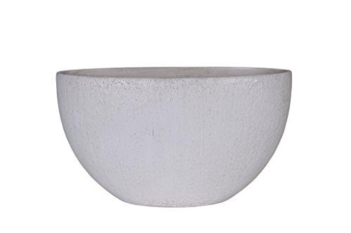 Universal Pot de Fleurs, Coupe de Fleurs Roto Pebble, résistant au Gel et ultraléger, Blanc, 60x35cm