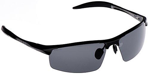 Cressi Cabrio Sonnenbrille, Glänzend Schwarz/Linsen Grau, Uni