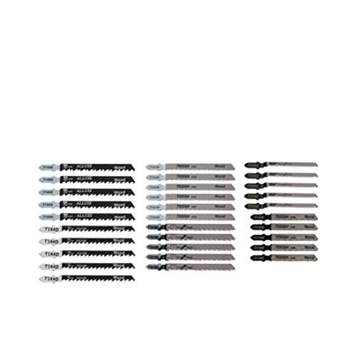 KESHIKUI New MEI 30pcs Jig Sega Lame Blades Jigsaw Blades Assorted Blades Fit for Wood Metal Thick T-Skink T144D   T244D   T101B   T101BR   T101AO   T118B