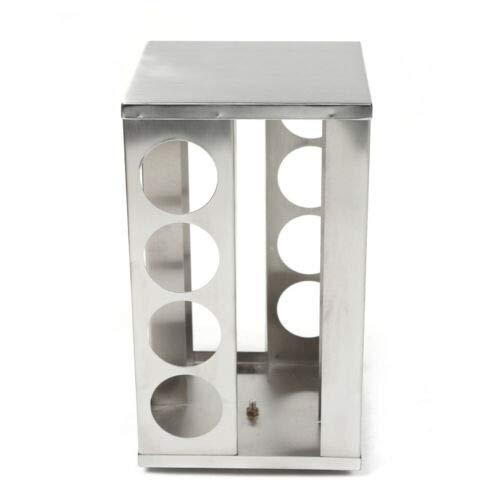 Kaibrite Gewürzkarussellständer aus Edelstahl Gewürzspender Küchengewürzregal mit 16 Gläsern