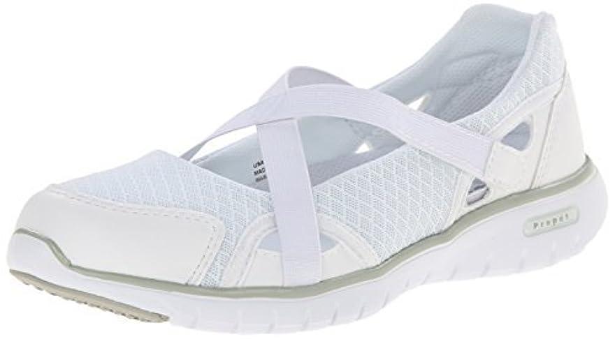 無限物足りないクラスPropet Women's Travellite MJ Walking Shoe White 9.5 M US [並行輸入品]