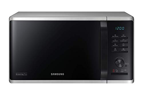 Samsung MW3500K MG2AK3515AS/EG Mikrowelle mit Grill / 800 W / 23 L Garraum / 48,9 cm Breite / Quick Defrost / 27 Automatikprogramme / silber / E-Commerce Verpackung