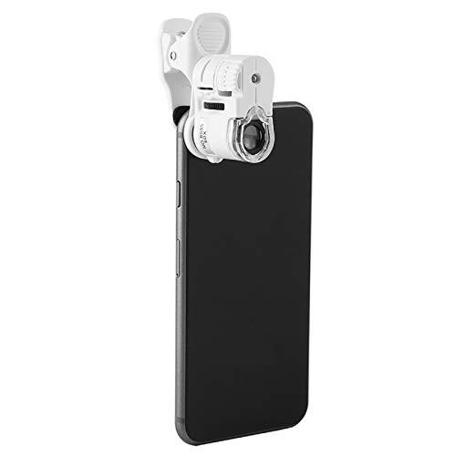 SH-RuiDu Portable 9595W 60X Magnifying Glass LED UV Light Mini Mobile Phone Clip Microscope