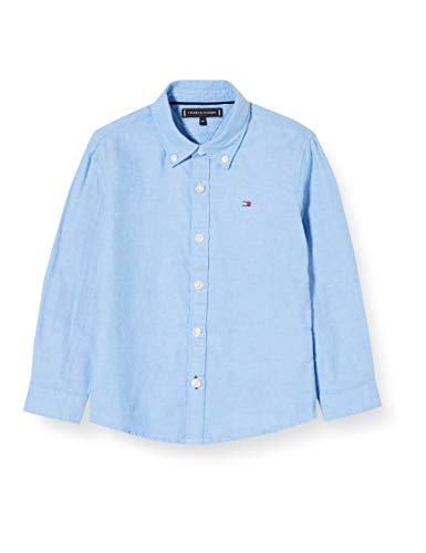 Tommy Hilfiger Allover TH Oxford Shirt L//S Camisa Manga Larga para Ni/ños