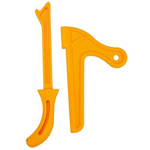 Viudecce CarpinteríA de PláStico Amarillo PráCtico Bloque de Empuje Sierra de Mano Juego de Herramientas de Varillas para Carpinteros y Uso en Sierras de Mesa, Mesas de Fresadora