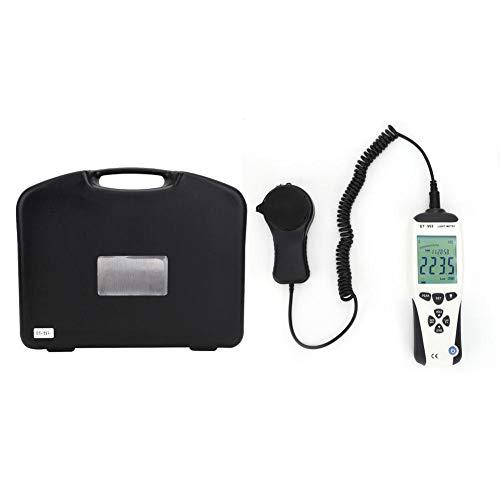 Oumefar Medidor de luz Resistente al Desgaste Luxómetro Digital LCD Iluminómetro portátil...