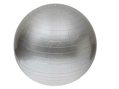 Suitable for Bodybuilding Dance, Massage Health Care Safe, All Ages Sturdy, Environmentally Friendly Men Women at Home 85 Cm. Silver Balance Ball w/ Pump - Fitness Exercise Pilates Gym Yoga Birthing.