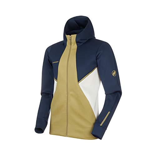 Mammut Herren Midlayer-Jacke mit Kapuze Avers Hooded, blau, L