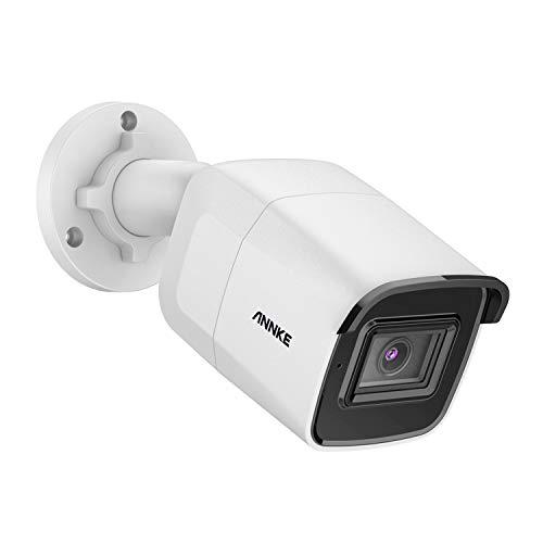 Annke PoE Ultra HD Cámara de Vigilancia 8Mpx Compresión de Vídeo H.265 para Exteriores/Interiores Exir Visión Nocturna 30m IP67 Ipermeable con Sensor De Movimiento
