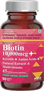 Carbamide Forte Biotin 10,000mcg with Multivitamin, Keratin & Bamboo-90 Tablets