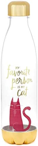 HMK Favorite Person is My Cat Plastic Water Bottle product image