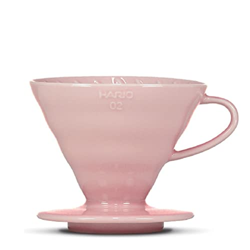 Kaffeefilter/Handfilter V60 aus Porzellan Größe 02 Pink von HARIO