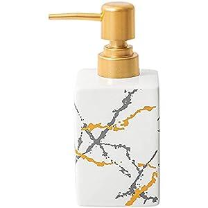 AMYZ Dispenser di Sapone in Ceramica con Pompa per Cucina da Bagno – Bottiglia di lozione in Marmo Nordico,Bottiglie di disinfettante per Gel Doccia Portatili Dispenser per Braccialetti Accessori