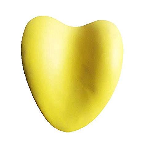 QIAO Oreiller de Salle de Bain Oreiller de Bain en Forme de Coeur Doux Coussin de Baignoire Jaune Coussin pour Accessoires de Salle de Bain Domestique