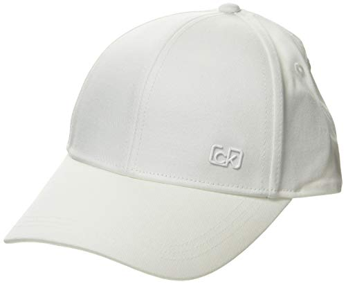 Calvin Klein Damen Ck Signature Side Logo Bb Baseball Cap, Weiß (White Yag), One...