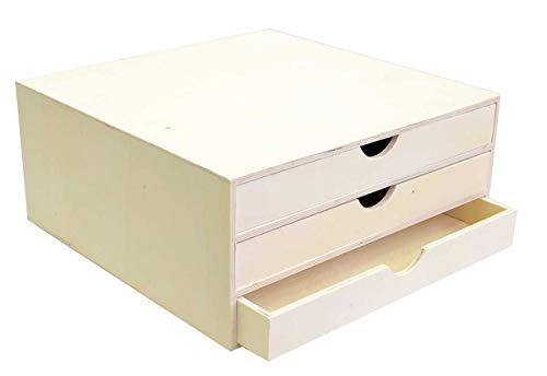 Artemio 14001909 - Organizador Decorativo (Madera, 34,5x34x15,5cm), Color Beige