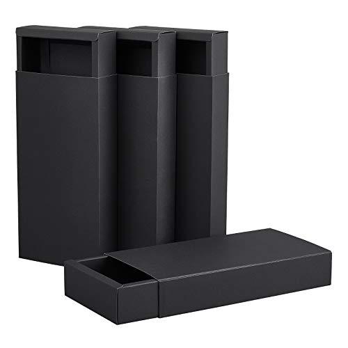 BENECREAT 10 Pack Caja de Cajón de Papel Kraft 24x12x4cm, Caja de...