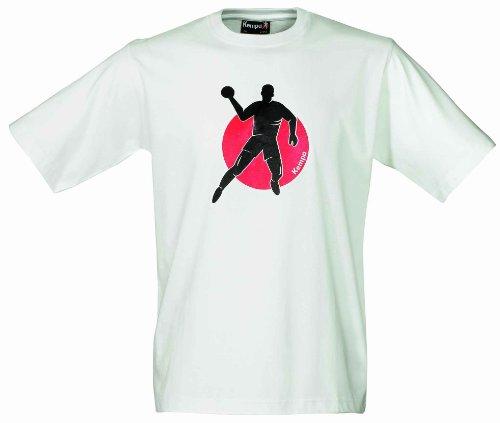 Kempa 20 02912 01 T-Shirt Tee Promo Print, weiß, (white) M