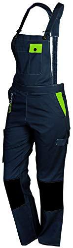 Fashion Securite 660142Pep \'s Latzhose-Arbeit Größe M, grau/lime
