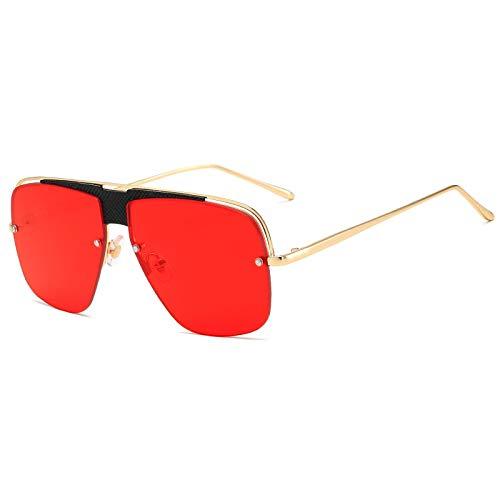 NJJX Gafas De Sol De Moda Mujeres Hombres Gafas De Sol De Metal Vintage Gafas De Sol Retro De Lujo Sombras 04