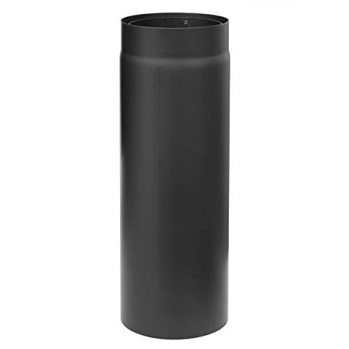 raik SH30005067-sw Rauchrohr/Ofenrohr Izoker doppelwandig mit Isolierung, Durchmesser 150 mm, Länge 500 mm, Schwarz