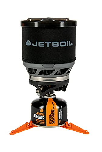 Jetboil MiniMo Camping and Backpacking Stove Cooking System, Carbon Black