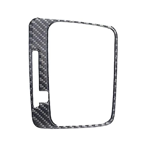 HUAER Etiqueta de Fibra de Carbono Pegatina Interior Mayúscula Caja de Cambios Cubierta de Panel de Recorte Accesorios de calcomanía FIGR para Golf 7 MK7 2014-2019