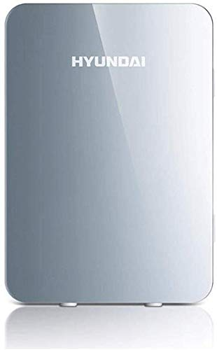 Koelbox auto koelkast, 20 l koelkast koeler en warmer, compact, beweegbaar en stil AC + DC-stroom, compatibel voor auto en huis zilver