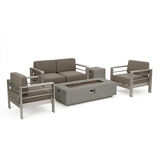 Christopher Knight Home Crested Bay Patio Furniture ~ Outdoor Aluminum Sectional...