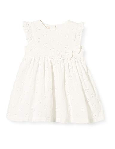 Chicco Baby-Mädchen Abito Manica Corta Kleid, Weiß (Bianco 033), 68 (Herstellergröße: 068)