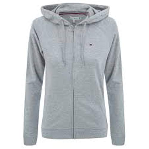 Tommy Hilfiger Zip UW0UW01965 Thru Hoody LS - Chaqueta gris, talla M para mujer