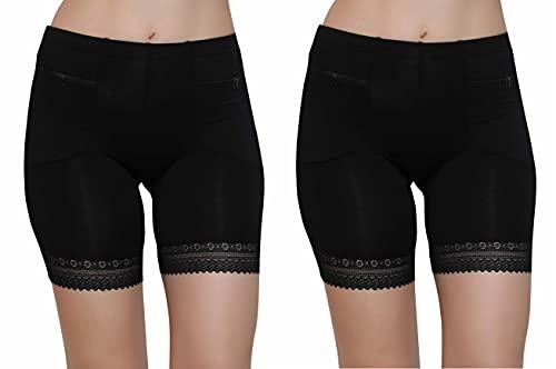 GLAMORAS Women's/Girl's 4 Way Stretch Cotton Spandex High Waist Safety...