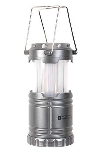 Mountain Warehouse Linterna para Acampar con Efecto Llama - 2 ajustes de luz, luz Blanca Brillante, Alcance 10 m, hasta 10 Horas - Ideal para Exterior, Acampada, jardín Negro Talla única