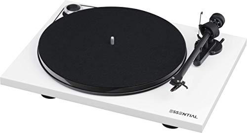"Pro-Ject Essential III Bluetooth, Audiophiler ""Best Buy"" Plattenspieler mit Bluetooth Streaming (Weiß)"