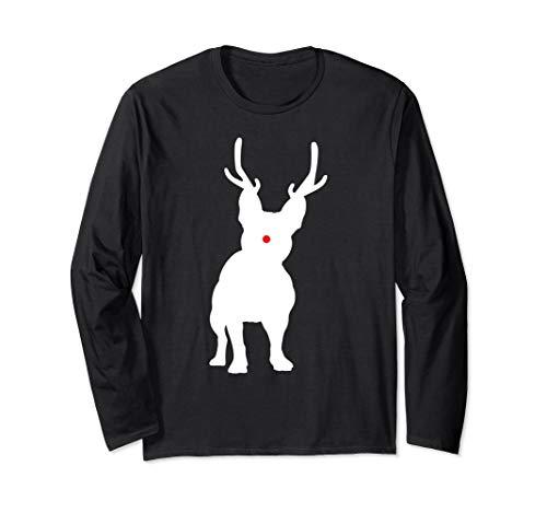 Christmas French Bulldog Reindeer Frenchie Dog Gift Long Sleeve T-Shirt