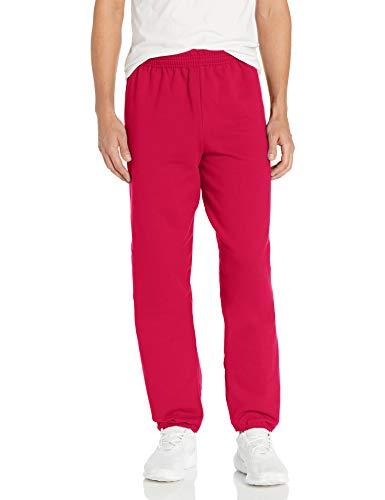 Hanes Men's EcoSmart Fleece Sweatpant, Deep Red, 3XL