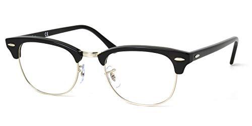 ■■ レイバン スマートグラス ■■ スマホ用メガネ 30代からのスマートフォン、携帯ゲーム機用メガネ Ray-Ban CLUBMASTER メガネフレーム RX5154 2000 51サイズ
