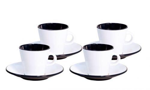 Gimex Espressotassen-Set Linea 2-teilig schwarz, weiß